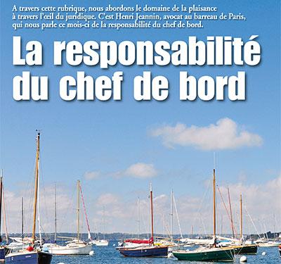 la responsabilité du chef de bord